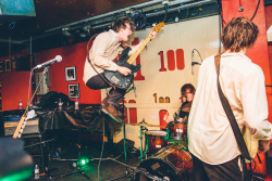 conversemusic:  The Palma Violets getting air at the 100 Club this past March.