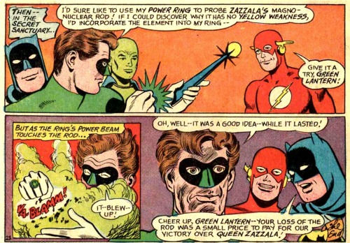 "Hal has always been a bit of a doofus. From Justice League of America #60, ""Winged Warriors of the Immortal Queen""."