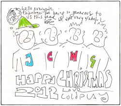 coldplay:  Happy Christmas everyone!