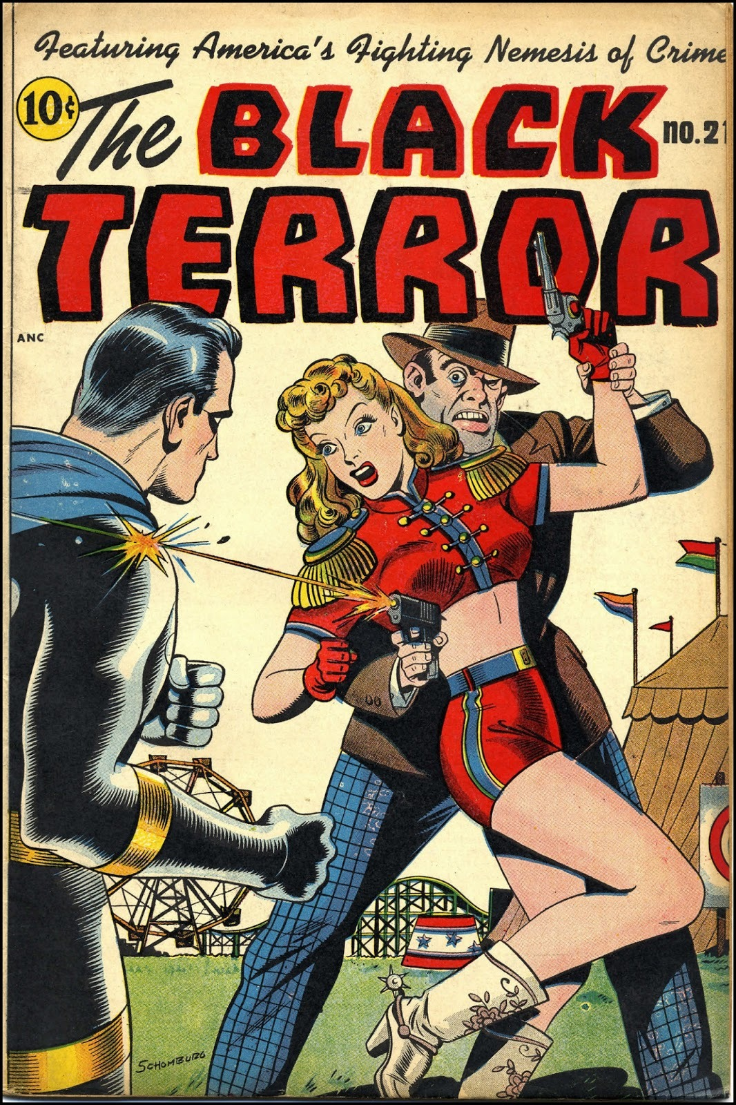 Black Terror #21, January 1948; cover art by Alex Schomburg. (via Fantasy Ink: Black Terror!)