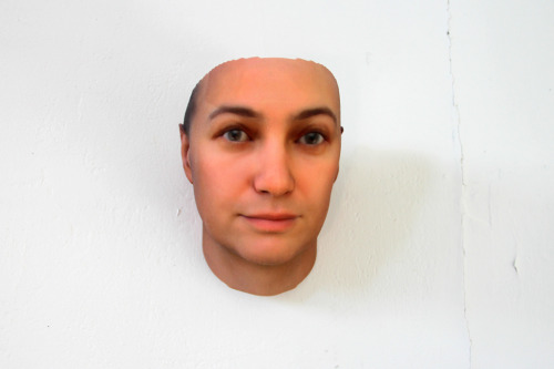 3D printed portraits derived from synthesized DNA found on discarded gum and cigarette butts by Heather Dewey-Hagborg.