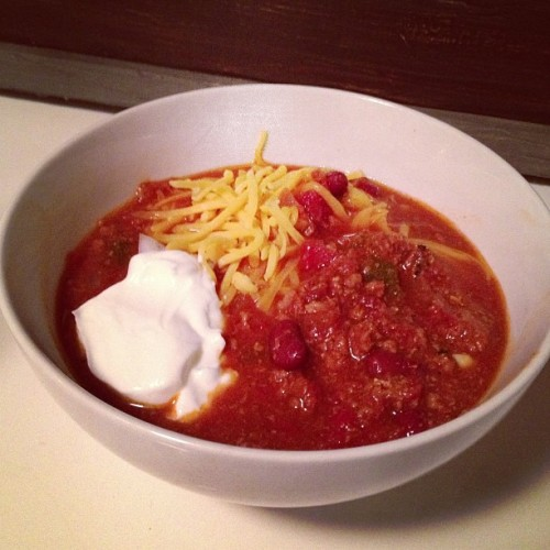 My best turkey chili yet. Secret ingredients: honey and molasses. Wow.