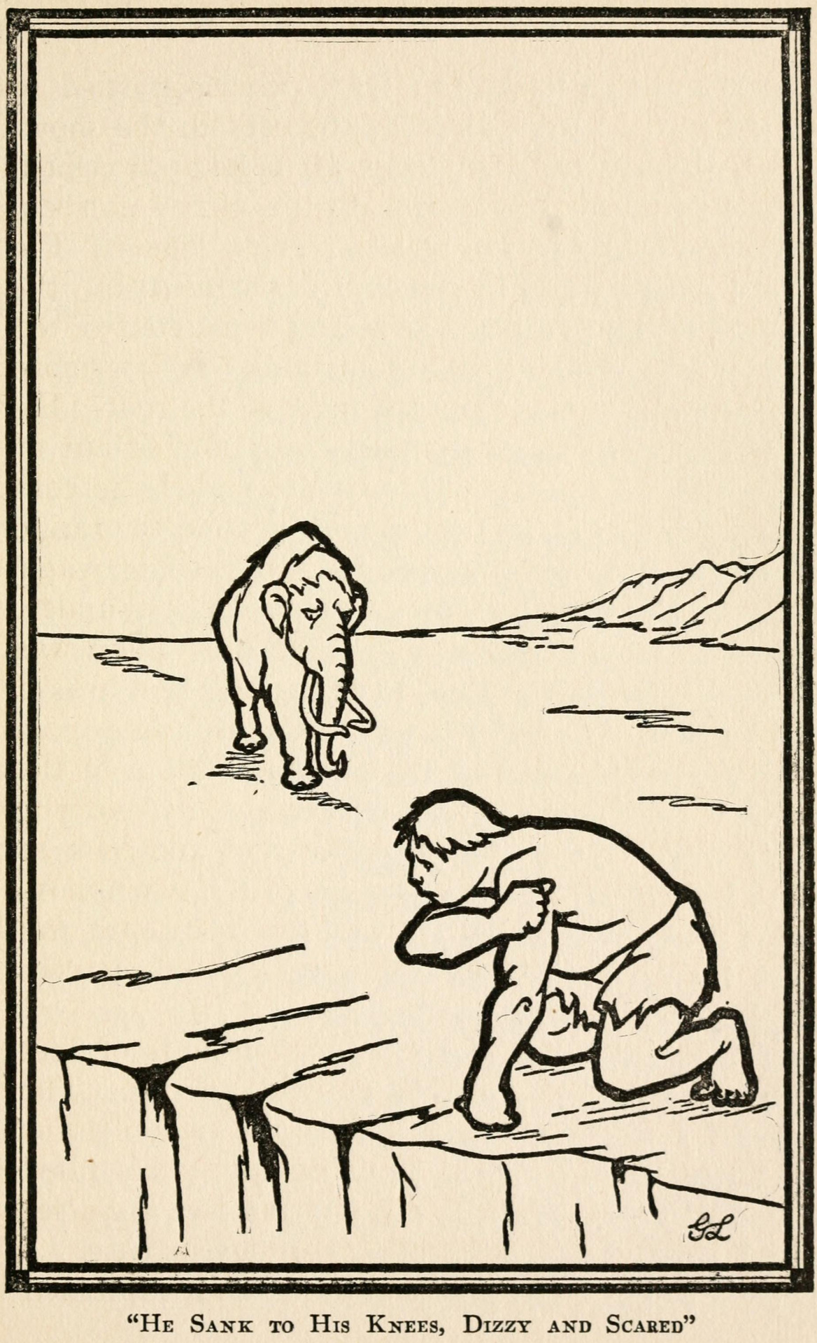 From Kutnar, Son of Pic, written and illustrated by George Langford, 1921.Lightheaded: vintage dizzy imagery.Wondering about this post? Wait for the dissertation (TBA). For now: Weblog ◆ Books ◆ Videos ◆ Music ◆ Etsy #dizzy#caveman#mammoth#vintage illustration