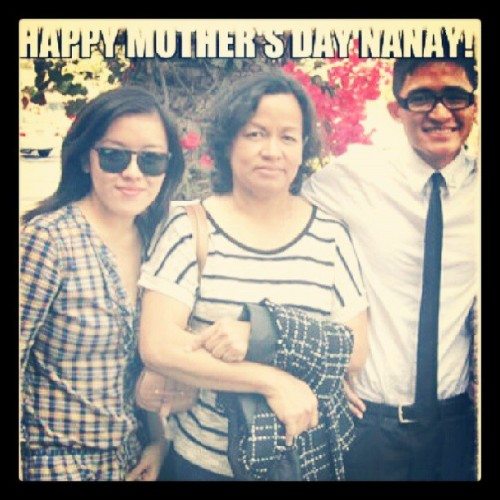 The womyn who raised and  shaped who I am. #Nanay #MothersDay #Family