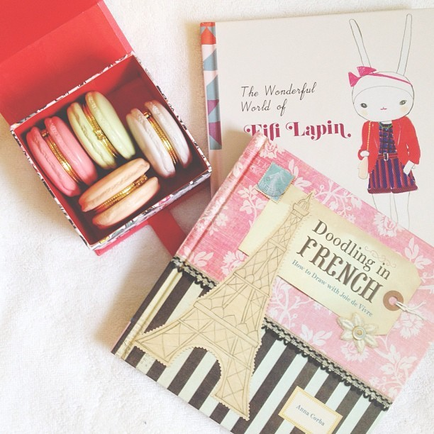 Some cute new books & macaron trinket boxes 💕 follow me on instagram @MissYanaCherie   (at Maison Ladurée)