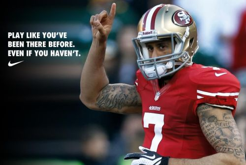 m0nster-man:  King Kaep! From carrying a clipboard to carrying the team.