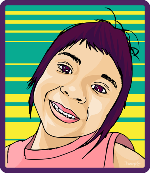 Playing with Illustrator again. My niece Alaina.
