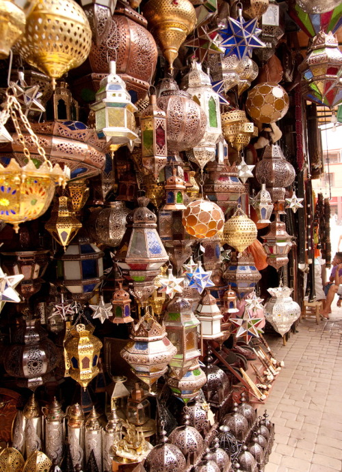 visitheworld:  Handcrafted lanterns on the souk in Marrakech, Morocco (by Angry Mr-T).