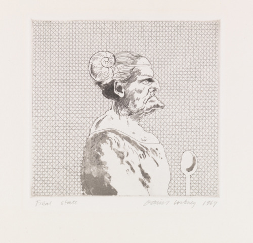 The Cook. Engraved by David Hockney, 1969.