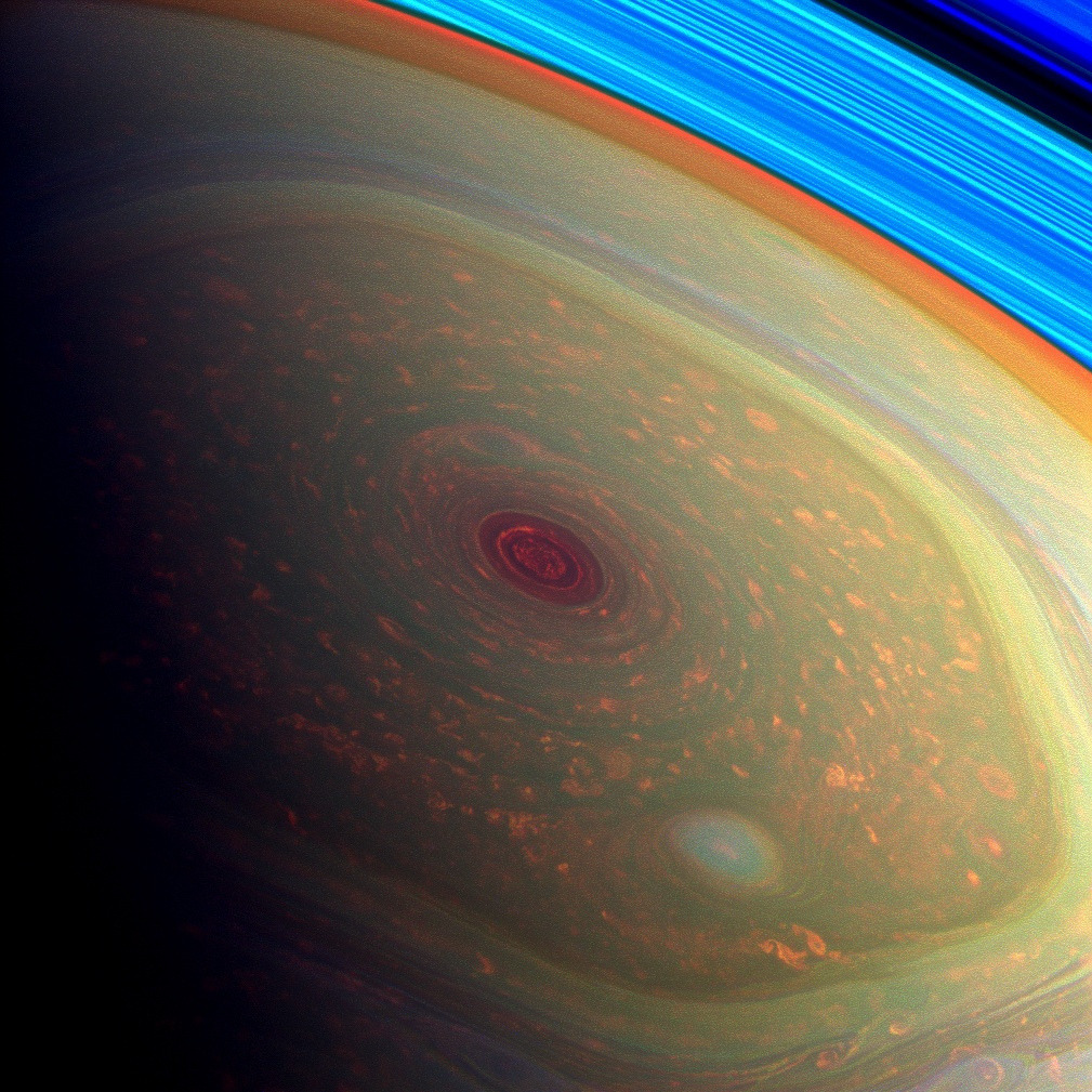 Storm on the north pole of Saturn (by NASA Goddard Photo and Video)
