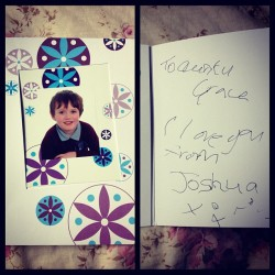 Pretty sure he got help writing this from my brother but oh so cute card with his school photo on the front from my wonderful nephew <3 xx