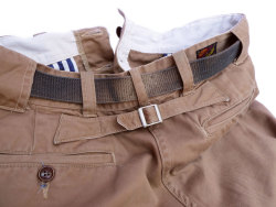 "Another one under the belt: Mister Freedom® ""Sportsman Chinos"", selvedge cotton khaki twill, Made in U.S. of A.More photos here if you are bored."