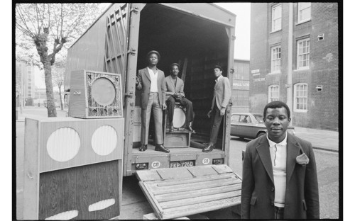 Admiral Ken with his Box Men, East London 1973
