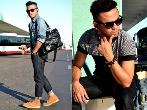 Bus Terminal (by Paul Ramos) #hmfashion #h&M #liveyourlife #denimjacket #essential   #stackedbraceletes #bracelets #iconic #abudhabi #dubai #belt #madinat  #hmfashion #suede #desertboots #kish #iran  #sunnies #wayfarers #style #men #shades