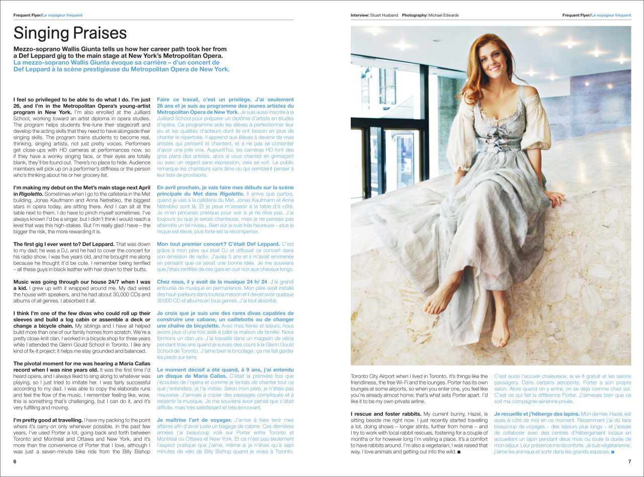 Mezzo-soprano Wallis Giunta shot by me for RePorter Magazine, Winkreative.