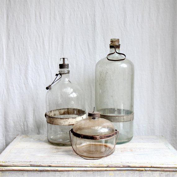 etsygoodies:  (via Antique Kerosene Bottle Collection Glass Bottle by ethanollie)