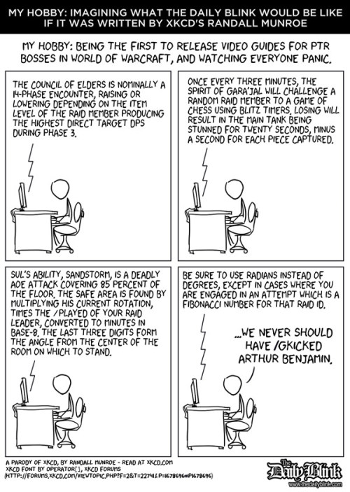 The Daily Blink, As Written by XKCD