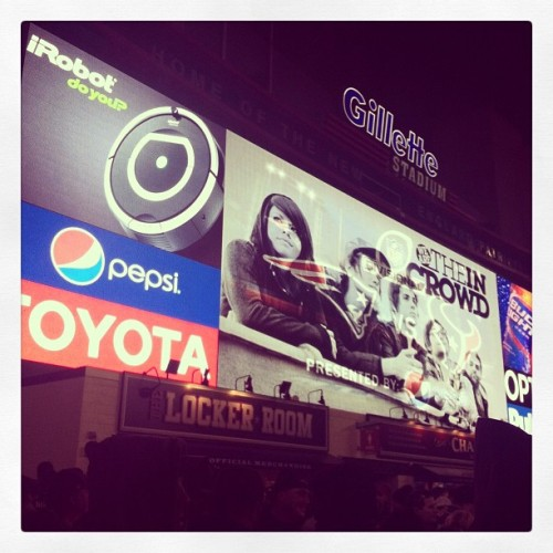 Jumbotron!  (at Gillette Stadium)