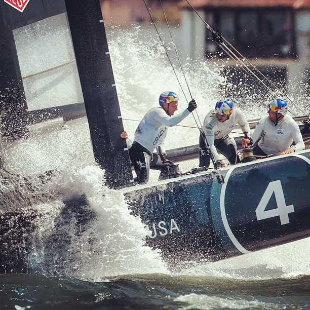 Keep an eye out #oracleteamusa #artemisracing #AC45 training this arvo #americascup #summerofracing  (at San Francisco Bay)