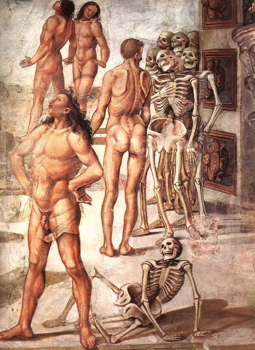 Resurrection of the Flesh (detail), Luca Signorelli