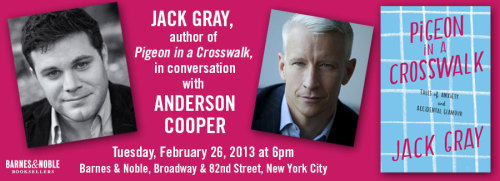 Spend the evening with us, Jack, and Anderson at B&N tomorrow!
