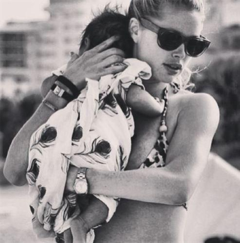 Doutzen Kroes and her baby