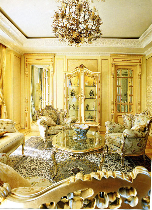 a-l-ancien-regime:  A typical rococo room In contrast with the ostentation of baroque, during the 1st half of the 18th century appeared the more intimate Rococo: rooms where smaller, but much more comfortable and more elegant than during the Baroque era. In France, the fashion was dictated by the favorite of Louis XV:  Marquise de Pompadour. Private meetings were in vogue. All served the spirit of privacy and secrecy:  hidden garden pavilions and gazebos, secluded caves and grottoes.      A typical small room had a rounded or oval plan. Floors were made of boards or parquet with geometric patterns. Color became important; if baroque interiors offered a range of bright color, for the Rococo indulged in pastel and muted colors: pearl grey, pale yellow, sky blue, pink, pale green. Gold and silver became fashionable in matte tones.     The distinguishing feature of the style became the small stylized engraved pattern in the form of rocaille (ornament in the form of shells). Rocaille became the main motif decoration.  Precisely because of that motif, the style of king Louis XV was later called Rococo, and it appeared everywhere, in sofas, couches, beds, chairs and plaster decorative elements. It was a time of general enthusiasm and the exploration of  the orient was reflected in chinoiserie furniture (the hit of the era were lacquered chests in Chinese style).      In short, this style is best suited to create a private, confidential atmosphere.