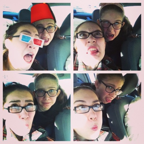 #picstitch #whovianproblems #siblings  car ride to Melanie's house :)
