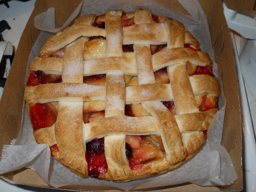 apple cranberry pie!!!