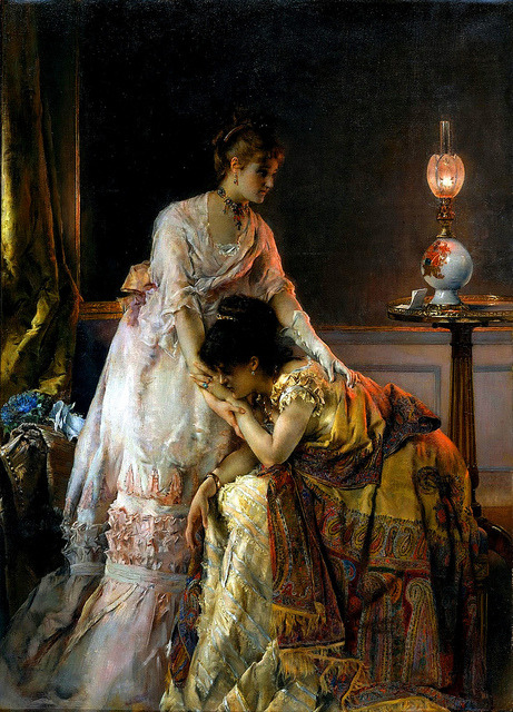 lostsplendor:  After the Bell by Alfred Stevens, 1823-1906 (via)