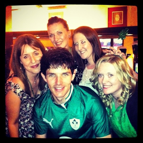 dragonlordette:  Colin with fans in pub in Dublin March 2012 (source)