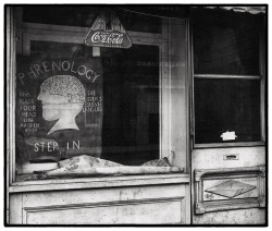 secretcinema1:  Phrenologist's Window, New Orleans, 1936, Peter Sekaer