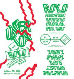 Unterton / Flyer / 2013with ROKO