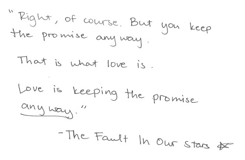 "whitepaperquotes:  ""Keeping the promise anyway."" Dedicated to the best book and best book author in my known Universe. And with gratitude to my bestest friend ever."