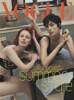 journaldelamode:  Karen Elson and Edie Campbell photographed by Steven Meisel on Vogue Italia May 2013