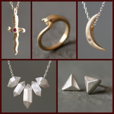 New arrivals from Michelle Chang just in time for Valentine's Day! Stop by 47 Second Ave to purchase. Photo credit: Michelle Chang Jewelry