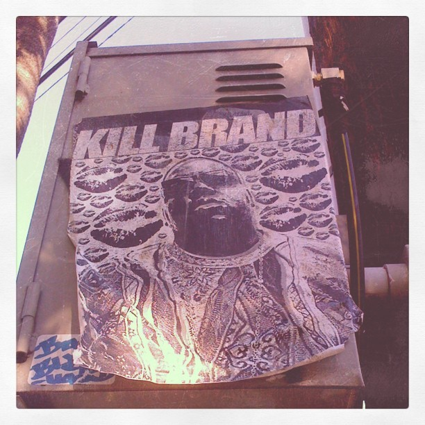 Always enjoy seeing #notoriousbig around #throwback #90's #versace #hollywood #wheatpaste