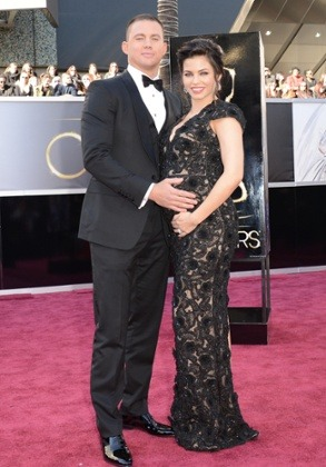 Channing Tatum and Jenna Dewan on the red carpet.