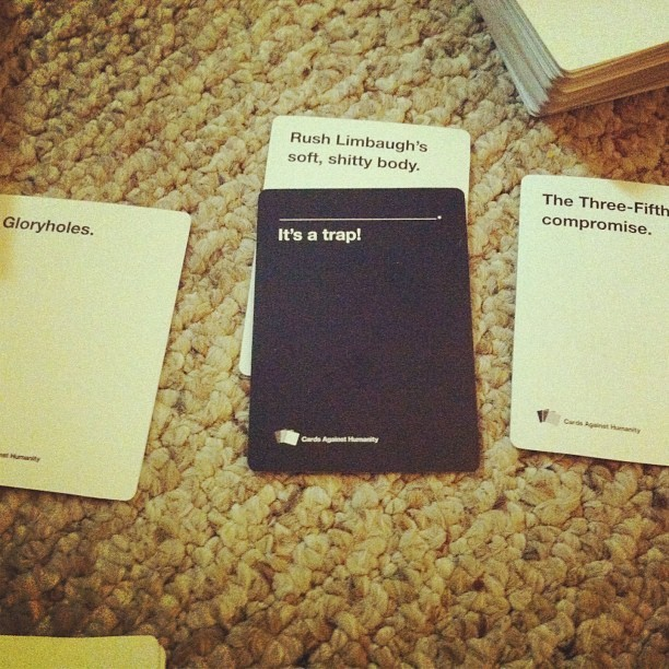 #cardsagainsthumanity last night