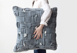 """HUHU pillow"" designed by Cool Enough Studio"