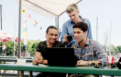 Rico, Nev and Max before meeting Ja'mari. Did you know season 2 is casting? If you have a similar story and need Nev and Max's help, apply here:  http://t.co/Ejqr71gv