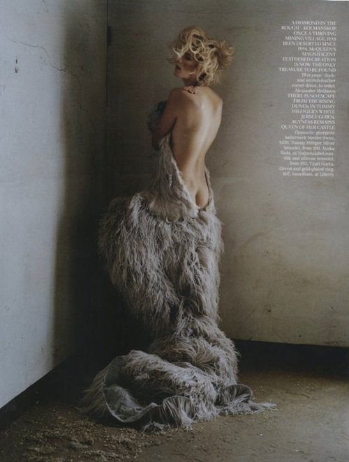 inspirationgallery:  Agyness Deyn by Tim Walker for Vogue Uk - Alexander McQueen ss11