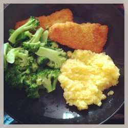 Best meal I have made myself in a while. #ilovebroccoli