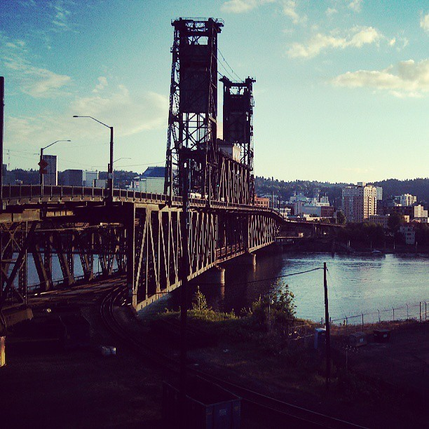 Walking through beautiful Portland.