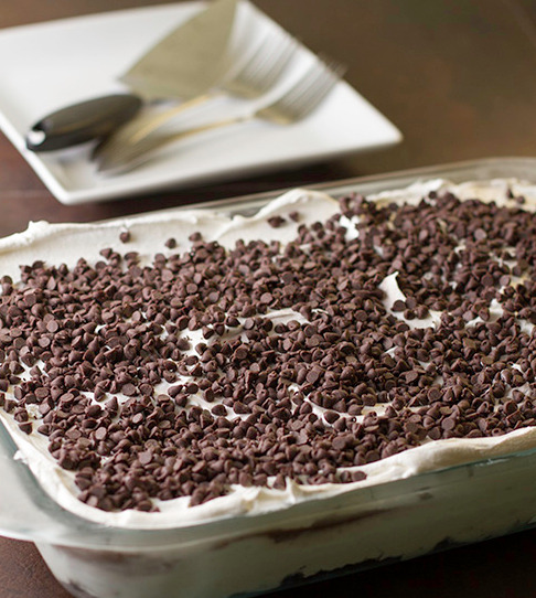thecakebar:  Chocolate Lasagna Recipe  Made this with my gf! So so so good!!! <333
