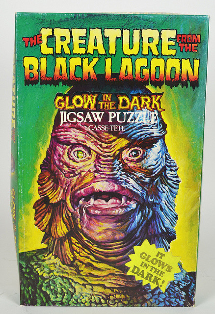 Creature From The Black Lagoon Glow Jigsaw Puzzle (1970s)