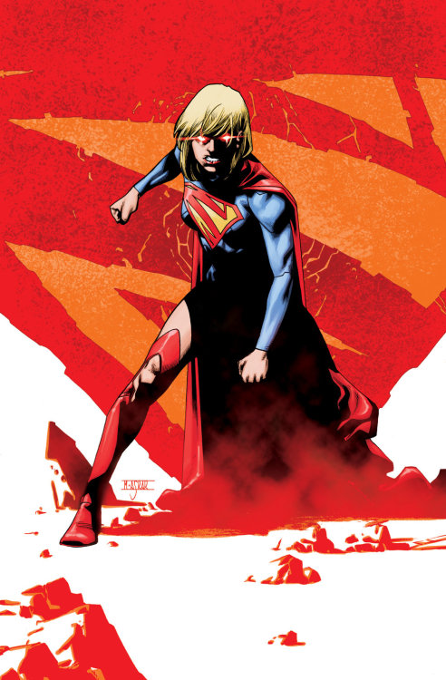 herochan:  Supergirl #21 Cover Art Drawn by Mahmud Asrar Colors by Daniel Brown