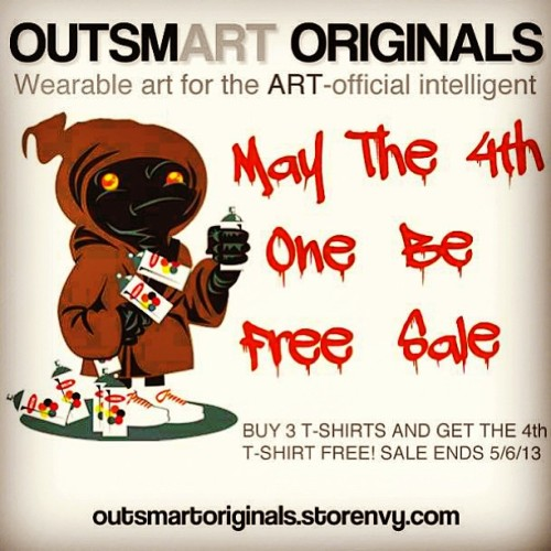Http://outsmartoriginals.storenvy.com   #maythe4th #superdeal @outsmart_kevin #outsmartoriginals #teeshirt #promotion if you've been wanting one of my #SumoTrooper #tshirts or the #CMYK3PO nows the time; get them both #awesome deal here!   #kidinkindustries x #outsmart (at OutsmArt Originals Promotion Machine )