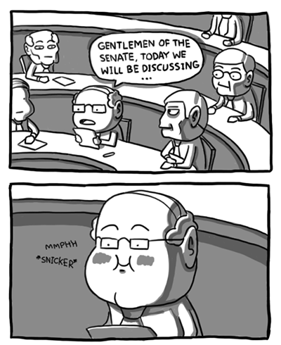 iheartchaos:  Sunday morning comics: Gentlemen of the Senate