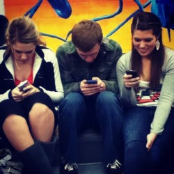 What we do during A Cappella :) #wordsewithfriends #playingagainsteachother #choir #finalsweek #lovethem  @allyson_nicole3  (at Capital High School)